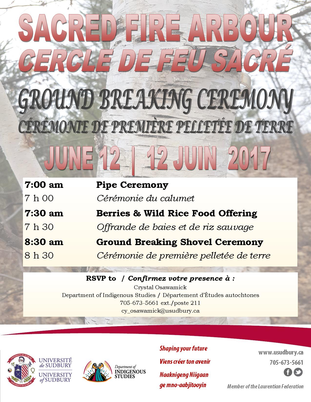 2017 06 02 Sacred Fire Arbour Ground Breaking Ceremony BIL2