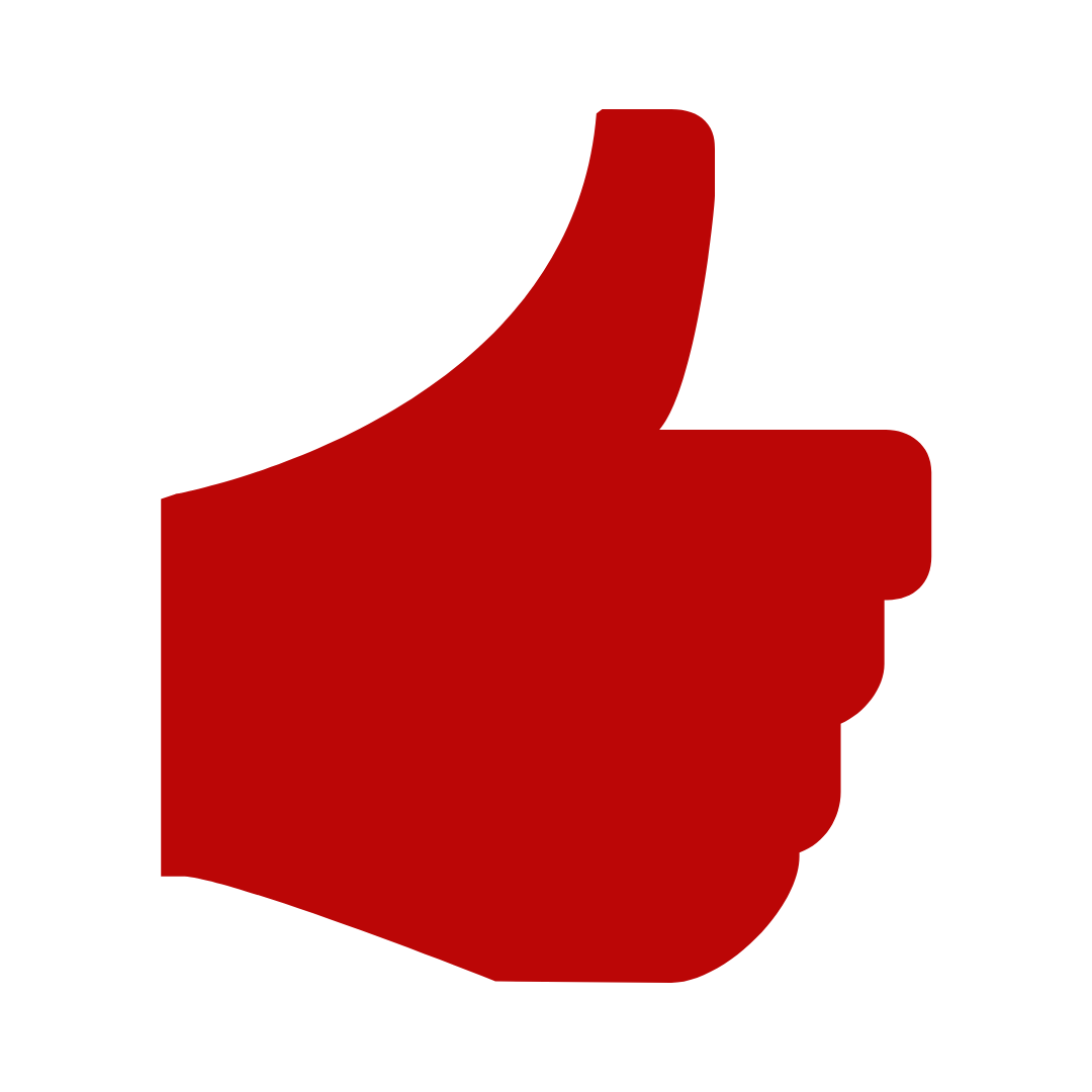thumbs up icon red free for use Canva